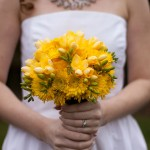 Fun yellow bridal bouquet