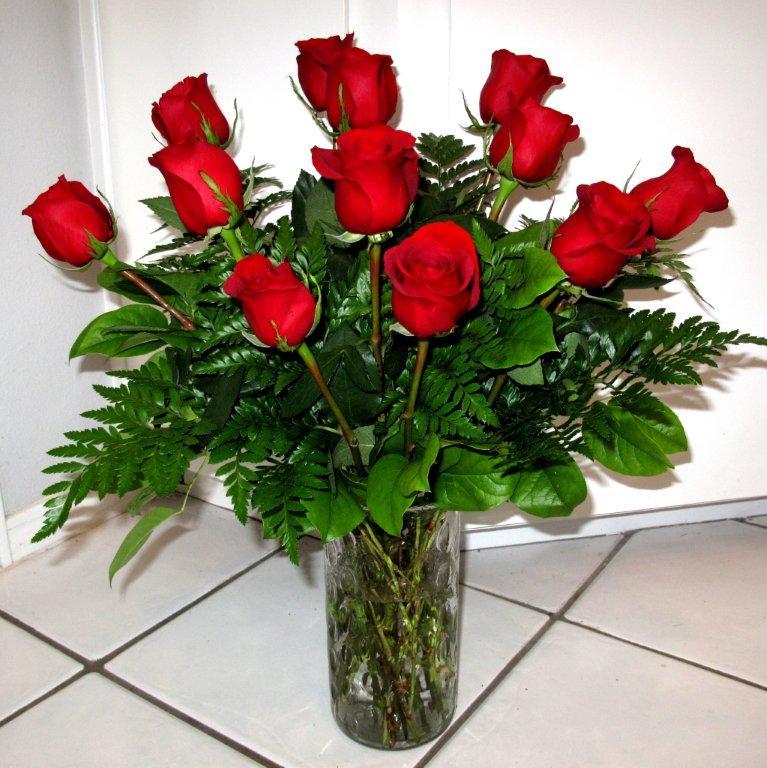 Dozen Long-Stemmed Red Roses