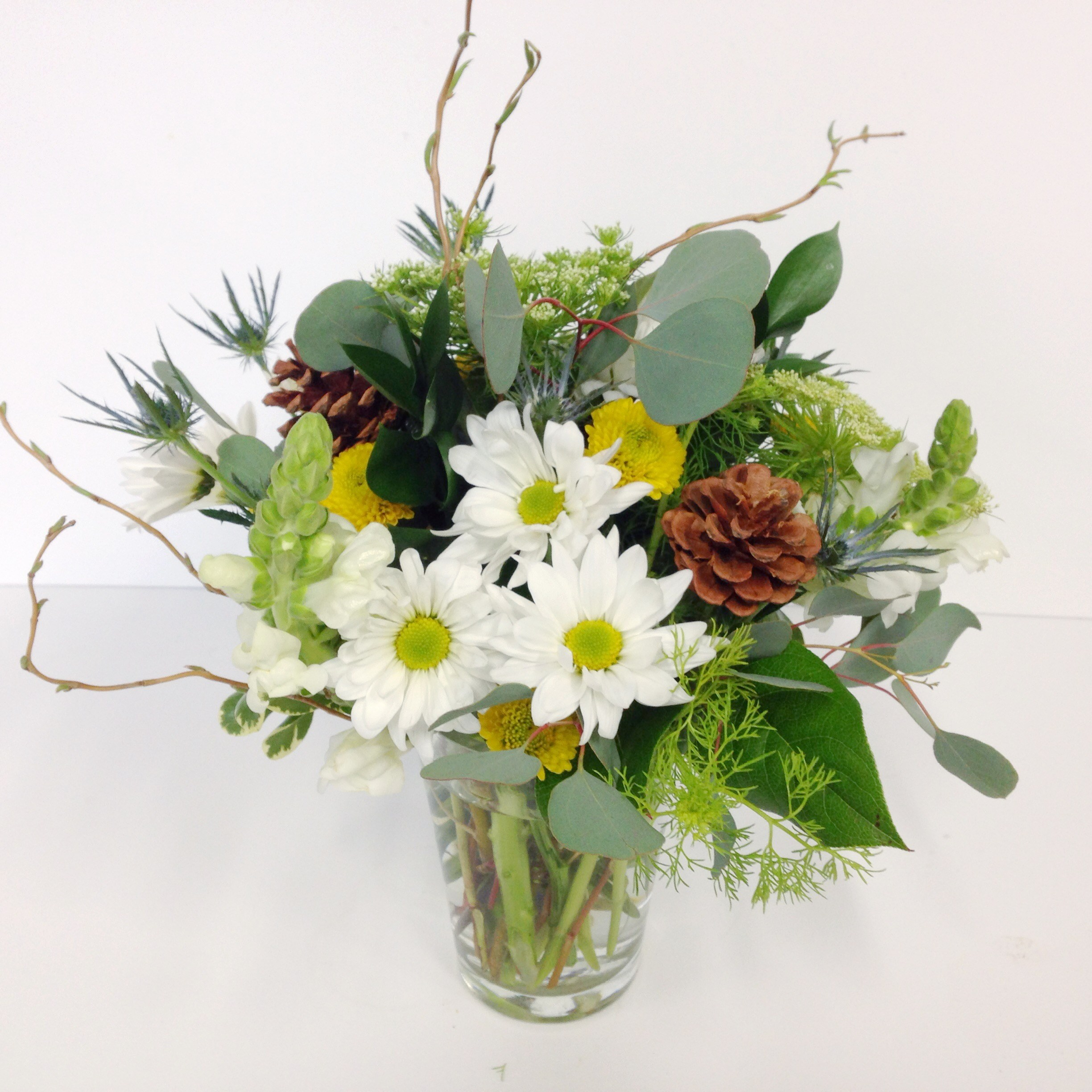 Whimsical Woodsy Flowers Floral Sunshine